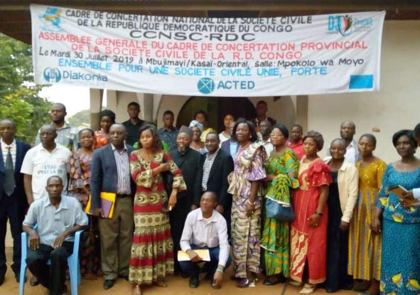 Kasaï oriental : Le cadre de concertation de la société civile en assemblée élective