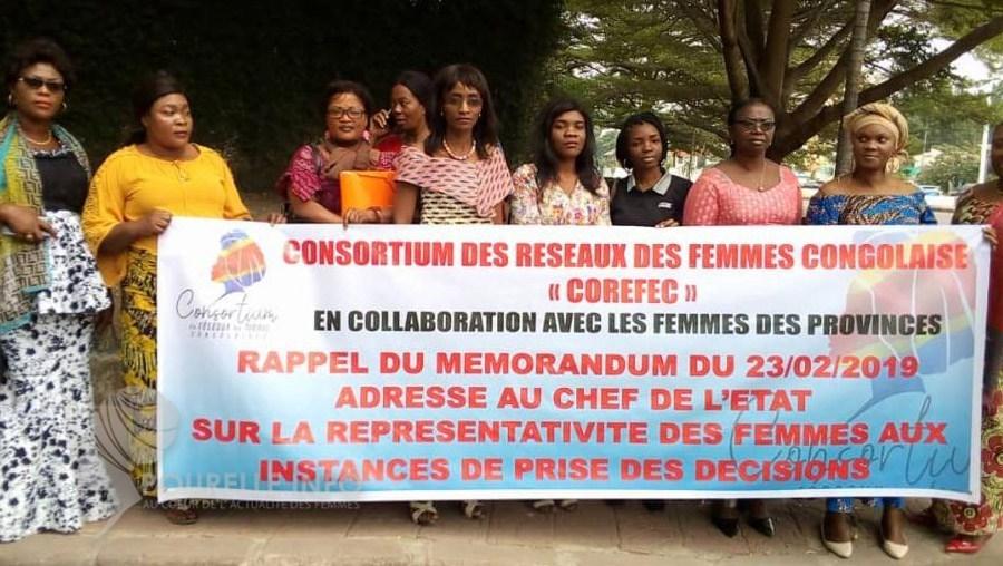 RDC: Le consortium des femmes dépose le mémo à la présidence