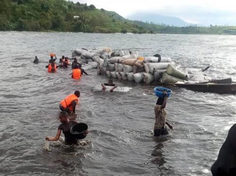 RDC-SUD KIVU: Le naufrage  d'une pirogue fait 7 morts et une disparue