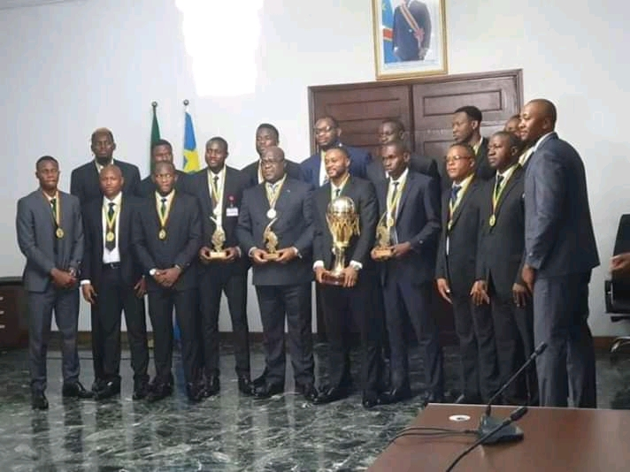 RDC-Sports- Basket-ball : Tshisekedi congratule les Léopards
