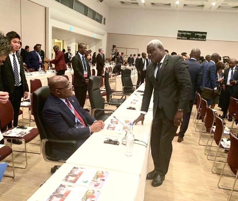 RDC- Japon: Moussa Faki promet le soutien de l'UA au gouvernement Ilunga