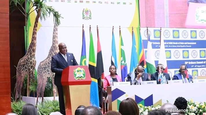 RDC- 39 ème sommet de la SADC: Tshisekedi parle d'Ebola