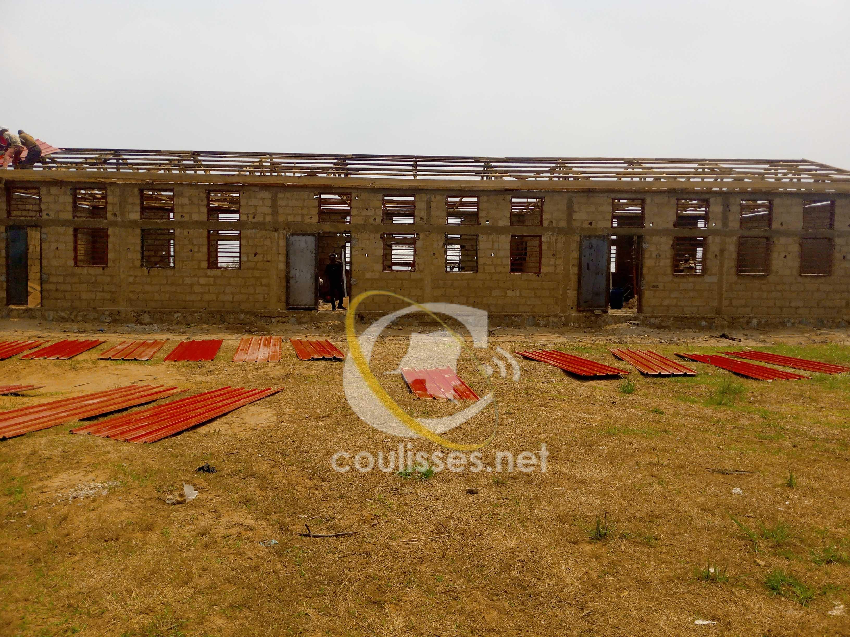 Kasaï-Oriental : programme de 100 jours, une école primaire en construction à Mupompa