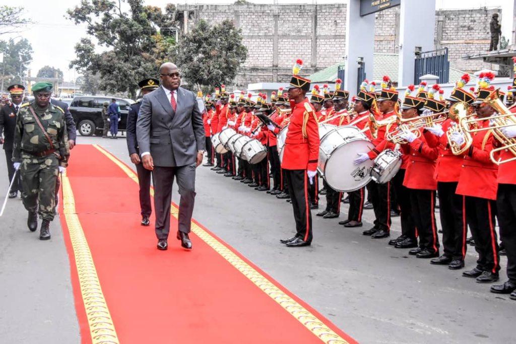 RDC : Tshisekedi  préside la cérémonie de remise de brevets  des officiers supérieurs et des hauts cadres civils et militaires
