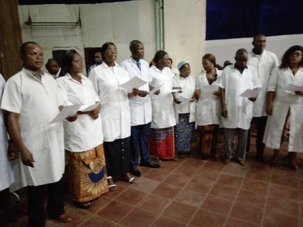 Kasaï oriental : 300 infirmiers admis dans l'ordre national des infirmiers du Congo