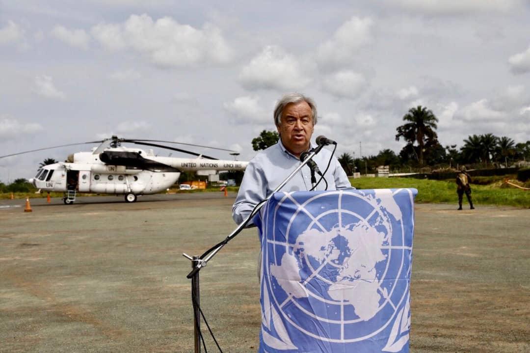 RDC- Nord-Kivu : Antonio Guterres est arrivé à Béni