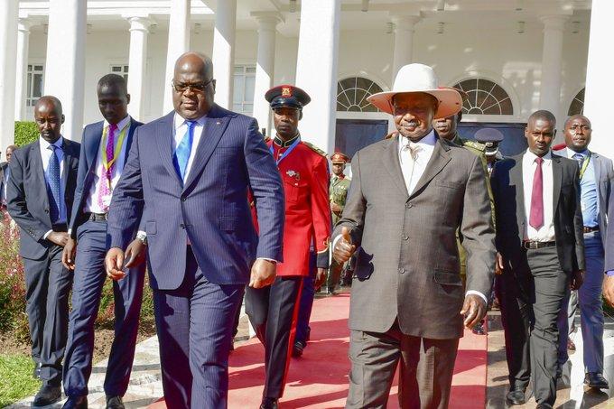RDC- Ouganda: Tshisekedi et Museveni décident de coopérer pour pacifier l'Est du Congo