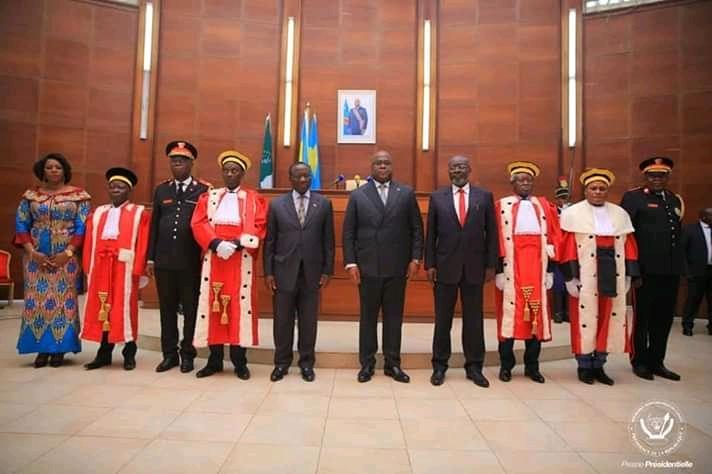 RDC: Les magistrats nommés ont prêté serment devant Félix Tshisekedi