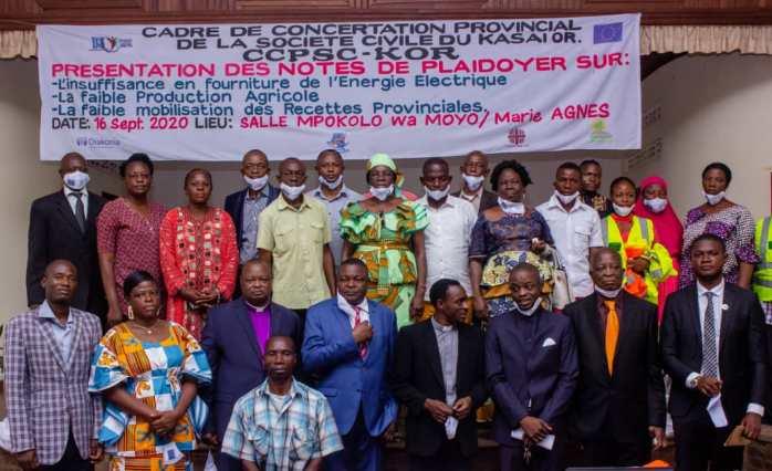 Kasaï oriental : Le cadre de concertation de la société civile présente son plaidoyer  pour le développement de la province