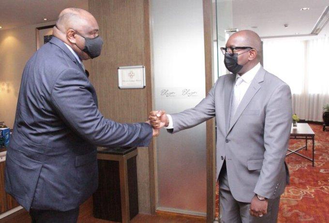 RDC : Jean-Pierre Bemba rencontre Sama Lukonde pour le féliciter