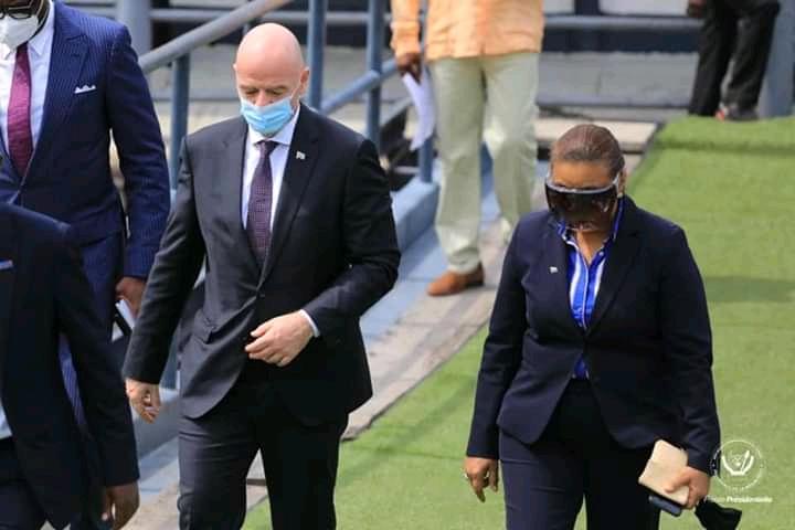 Le président de la FIFA débarque à Kinshasa