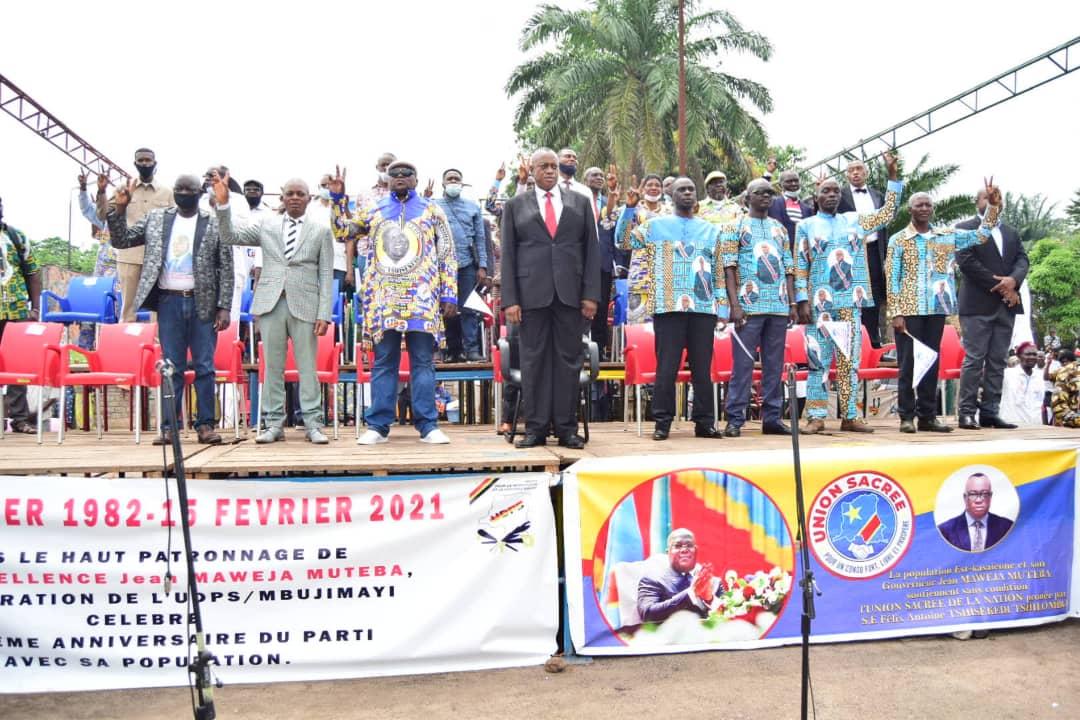 Kasaï oriental : Le 39 ème anniversaire de l'UDPS commémoré avec faste à Mbujimayi