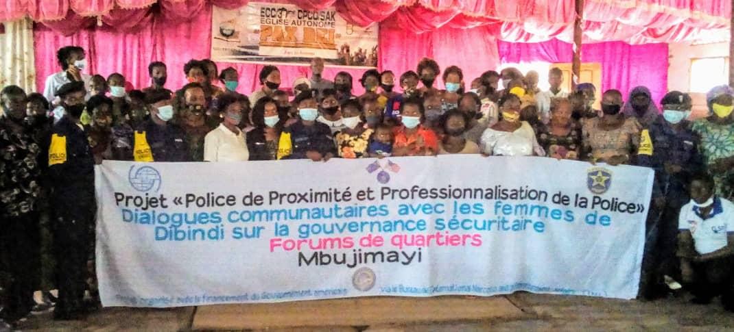 Kasaï oriental : Forums de quartiers organisés par l'OIM, les femmes souhaitent la fin de l'insécurité dans leurs entités