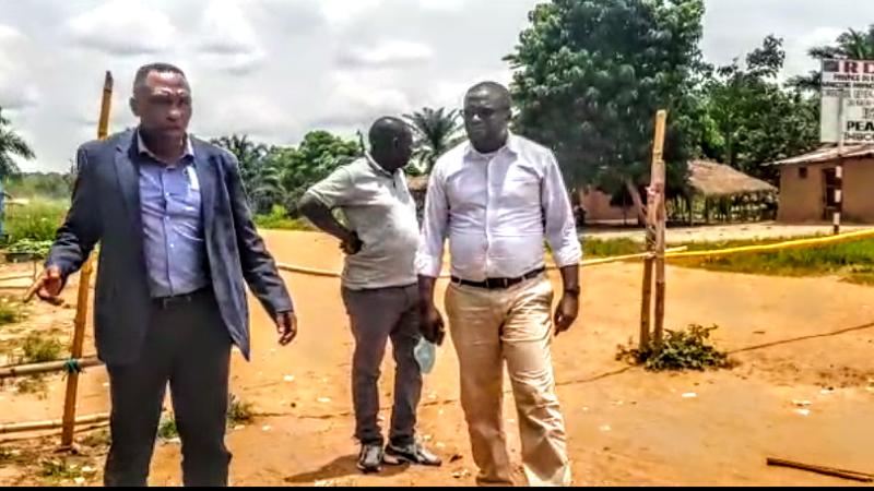 Kasaï oriental : La délégation de l'agence congolaise des grands travaux inspecte la nationale numéro 1