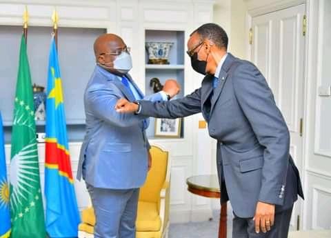 RDC: A Paris, Paul Kagame soutient l'état de siège initié par Félix Tshisekedi