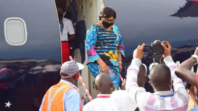 Kasaï oriental : Arrivée à Mbujimayi de la ministre Gisèle Ndaya