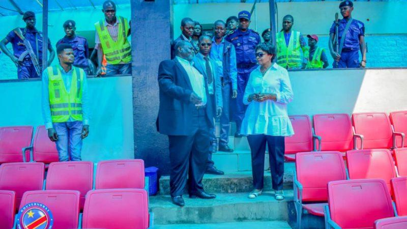 Sports: Jeannette Longa Muswamba  visite le stade Kashala Bonzola menacé