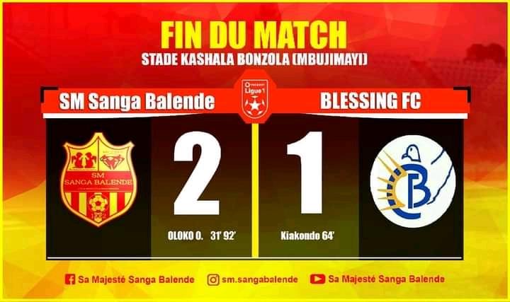 SPORTS/ Linafoot D1 : Au bout du suspense, SM Sanga Balende y arrive devant Blessing