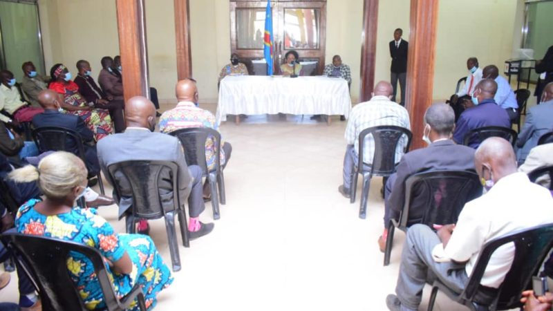 Kasaï oriental : Arrivée de Tshisekedi à Mbujimayi, Jeannette Longa appelle les chefs des quartiers à sensibiliser leurs administrés
