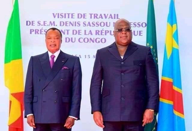RDC: Félix Tshisekedi a reçu Dénis Sassou Nguesso à la cité de l'UA