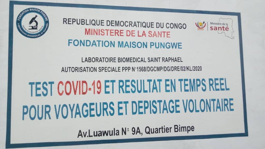 Kasaï oriental : Le laboratoire de test Covid19 de la fondation maison Pungwe désormais opérationnel