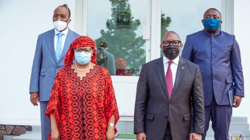 RDC : la gouverneure de la BCC Malangu Kabedi Mbuyi présente ses civilités au Premier ministre Sama Lukonde