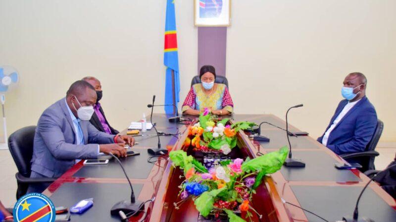 Kasaï oriental : Une délégation du ministère des finances en mission à Mbujimayi échange avec la gouverneure intérimaire